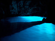 Famous Blue Grotto in Bisevo